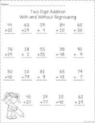Worksheets, Addition worksheets and Subtraction worksheets on ...Two Digit Addition With and Without Regrouping