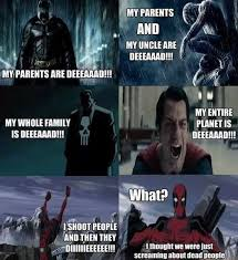Super heroes and their dead parents. : funny via Relatably.com