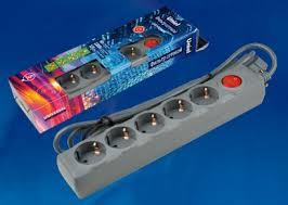<b>Сетевой фильтр Uniel S-GSU5-5</b> GREY UL-00001749 - купить по ...