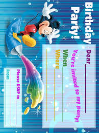 mickey mouse printable invitations mickey mouse clubhouse printable invitations