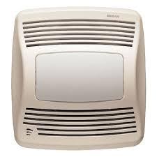 sensing bathroom fan quiet: broan model qtxesflt  cfm ultra silent humidity sensing fan light white grille