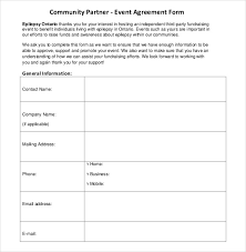 community partner event contract template event planning contract templates