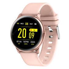 KW19 Ultra-thin Smart Watch Fashion Sport Watches Heat Rate ...