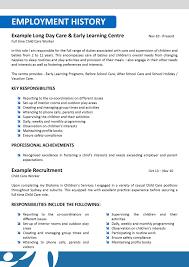 resume cover letter child care resume builder