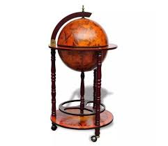 vidaXL <b>Globe Bar Wine Stand</b> Wood | Wereldbol bar, Hout, Massief ...