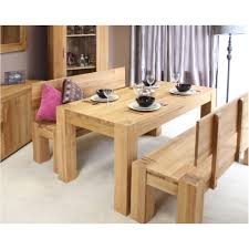 Oak Furniture Dining Room Palma Solid Chunky Oak Dining Room Furniture Dining Table And