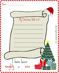 printable christmas wish list coupon connections