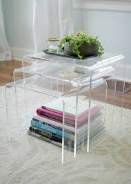 lucite side tables the lovely cupboard acrylic furniture lucite