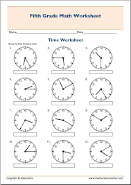5th Grade Math Worksheets - Worksheets5th Grade Math Worksheets Telling Time