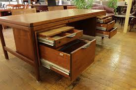 jens risom vintage mid century oiled walnut desk peartree office furniture century office