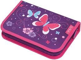<b>Herlitz Пенал</b> 31 предмет, пурпурный <b>Butterfly</b> купить в интернет ...