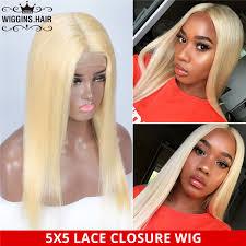 5*5 Glueless <b>613 Honey Blonde Lace</b> Closure Wig Straight Human ...