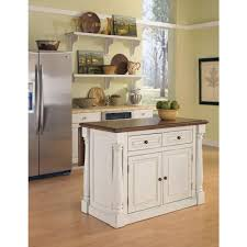 Distressed White Kitchen Table Home Styles Monarch White Kitchen Island With Drop Leaf 5020 94