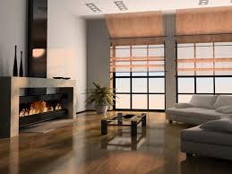 room modern design fireplace cabin