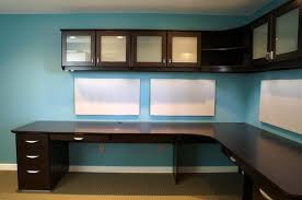 wall mounted cabinets office wall mounted desks with dark brown melamined wooden corner desk also three blue home office dark wood
