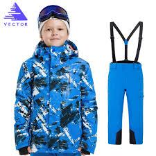 VECTOR <b>Boys Girls Ski</b> Suits Warm Waterproof <b>Children Skiing</b> ...