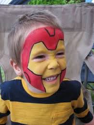 face painting iron man