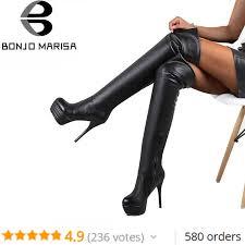 <b>BONJOMARISA Brand</b> Print Pointed Toe Lady Pumps Fake Leather ...