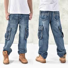 LOOSE Design <b>Cross Pants Punk</b> Style Distressed Denim Biker <b>Hip</b> ...