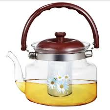 <b>Заварочный чайник</b> Webber Ромашки <b>1.2 л</b>, фильтр нерж.сталь