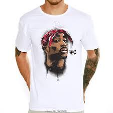 Tupac 2pac Printed T shirt Hot Sale <b>Hip Hop Style Streetwear</b> Tee ...