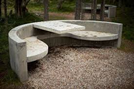 Outdoor decor, Concrete <b>outdoor dining table</b>, Garden furniture