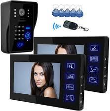 <b>Yobangsecurity</b> 7 Inch Monitor RFID Password <b>Video Door</b> Phone ...