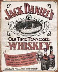 jack daniel old no old time tennessee whiskey metal jack daniel old no 7 old time tennessee whiskey metal advertising wall sign retro art