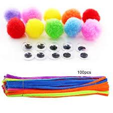 856storeFunny Fashion Toys100Pcs Colorful Chenille ... - Amazon.com