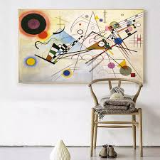 <b>WASSILY KANDINSKY Composition</b> no8 1923 Wall Painting picture ...