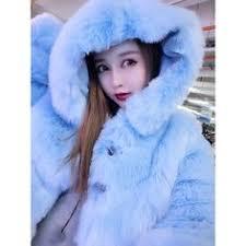 LVCHI Winter <b>Real FOX Fur</b> Coat With <b>Fox Fur Collar</b> | fashion in ...