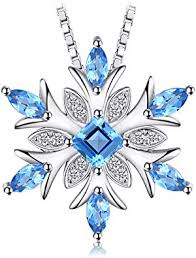 <b>JewelryPalace</b> Snowflake <b>Genuine</b> Swiss Blue Topaz Solid <b>925</b>