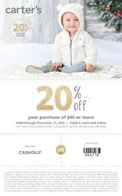 carter s festive holiday pjs and outfits for little ones carter s 20% off printable coupon for holiday shopping