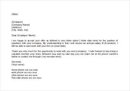 sample thank you letter for job offer   documents  sample job offer acceptance letter