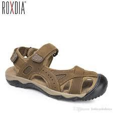 ROXDIA <b>plus size 39-48</b> genuine cow leather men sandals <b>summer</b> ...