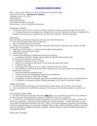format of good resume format for a good resume best format for resumes