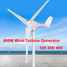 Small Power <b>600W Wind Turbines</b> 12V/24V/<b>48V</b> optional windmill ...