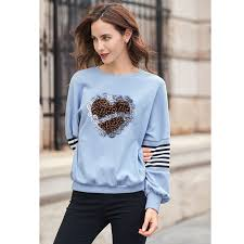 <b>Prajna Fashion</b> Leopard Stripes Sequined Patch Crown Heart <b>Girl</b> ...