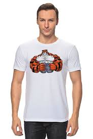 "Футболка классическая ""<b>Тигр</b> культурист"" #496151 от Sergey ..."