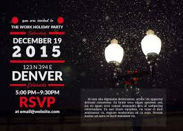 holiday templates examples lucidpress soiree holiday invitation template