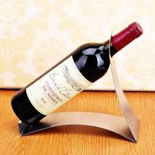 Euro Fashion Portable Stainless Steel Wine Holder Stand Wave ...