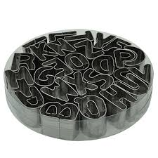 <b>26 English Letters Cookie</b> Cutter Stainless Steel Biscuit Mold ...