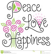 peace love and happiness eps royalty free stock photos