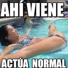 Ahí Viene - Actua Normal meme on Memegen via Relatably.com