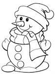 Снеговик картинки раскраски для детей