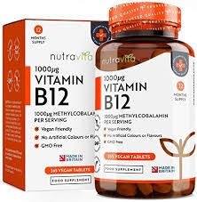 <b>Vitamin B12</b> 1000mcg - 365 Tablets (1 Year Supply) of Vegan ...