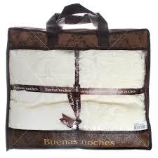 <b>Плед Buenas noches</b> евро (220х240 см) мех, в сумке, Комби ...