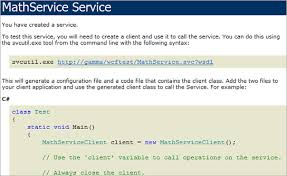 Walkthrough  Creating a simple WCF Service in Windows Forms
