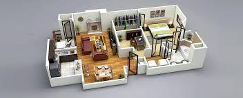One Bedroom House Apartment Plans    Visualizer  D Floorplanz  This one bedroom