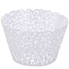 <b>50pcs</b> Pearly Paper Vine Lace Cup <b>Cake</b> Wrappers <b>Cupcake</b> Tower ...